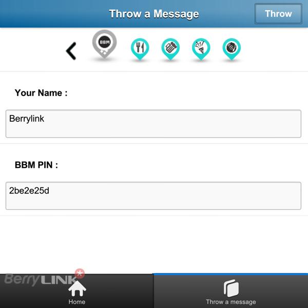 Air Messages bbm pin