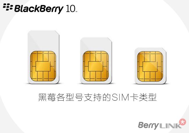 黑莓手机所支持的sim卡类型 黑莓手机爱好者