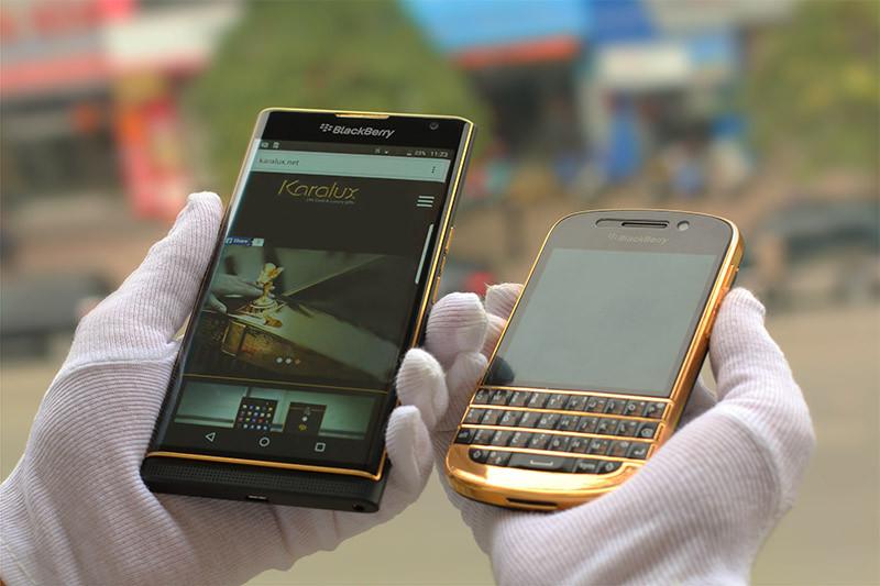 黄金版黑莓PRIV手机