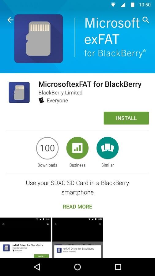 MicrosoftexFAT for BlackBerry1