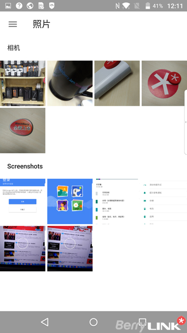 黑莓priv手机照片相册