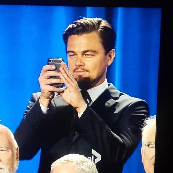 Leonardo DiCaprio blackberry phone