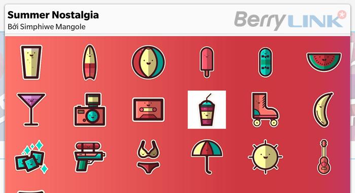 黑莓手机免费BBM贴纸Summer Nolstalgia