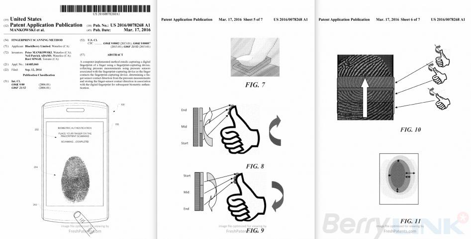 blackberry Fingerprint scanning method