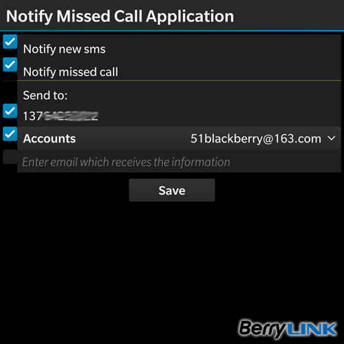 Notify Missed Call Application