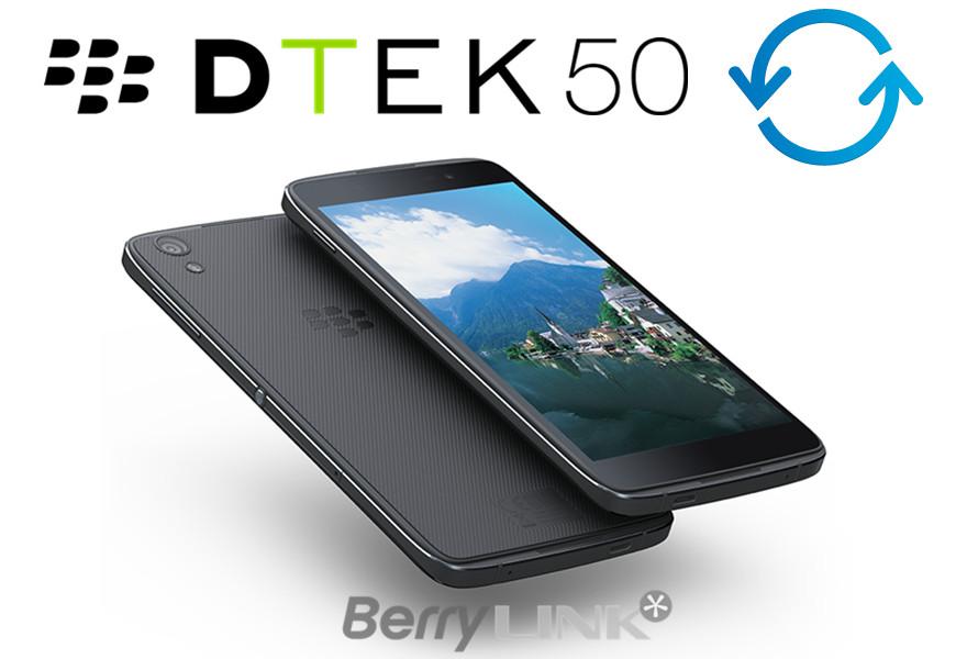 BlackBerry DTEK50 OS