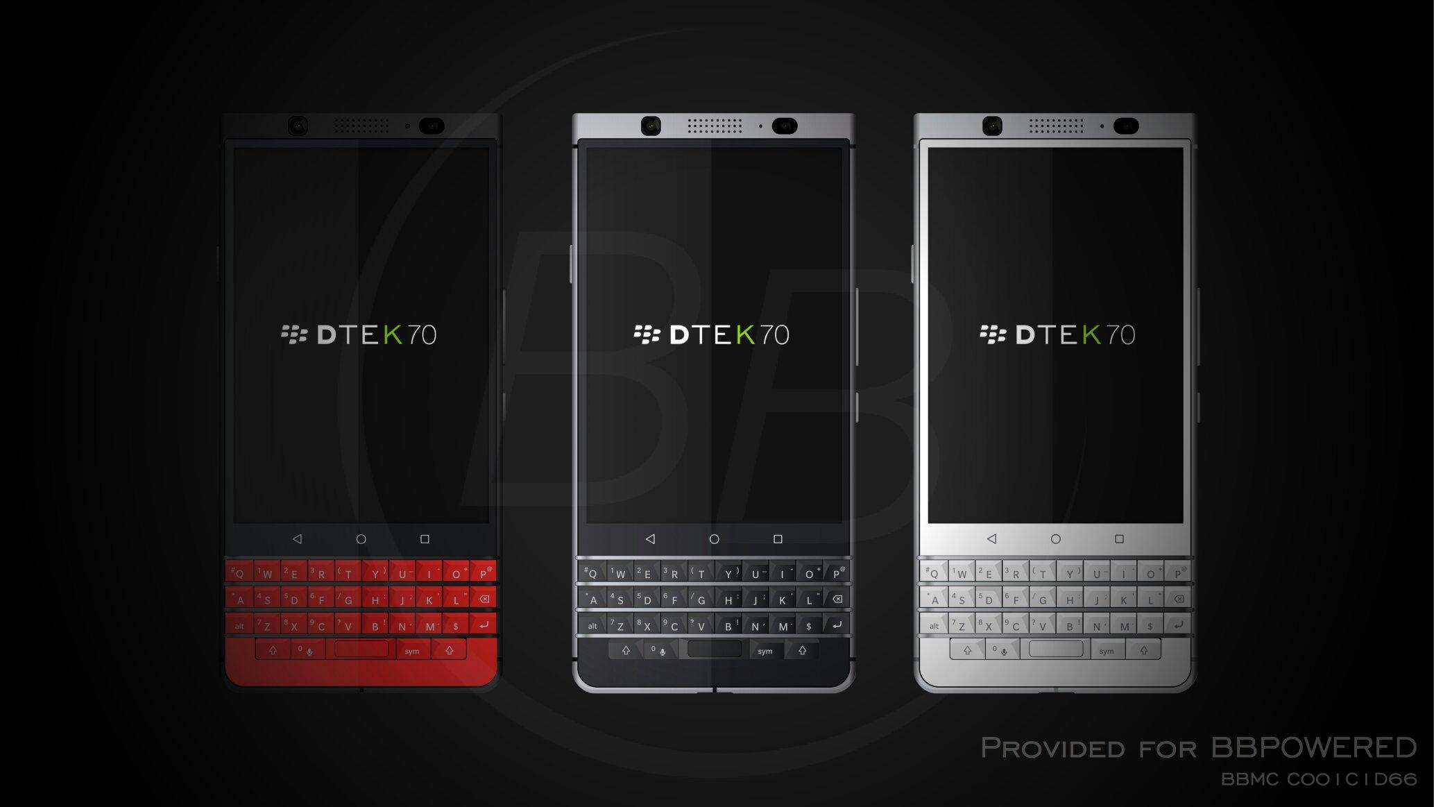 黑莓DTEK手机白色红色黑色