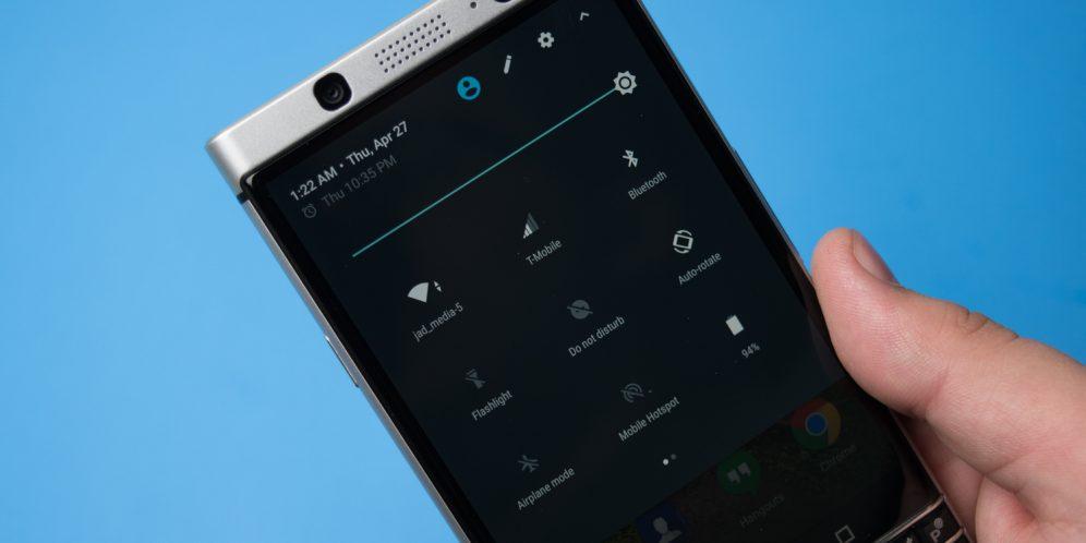 黑莓KEYONE手机系统设置