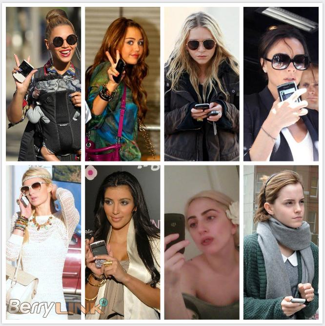 使用黑莓手机的女明星