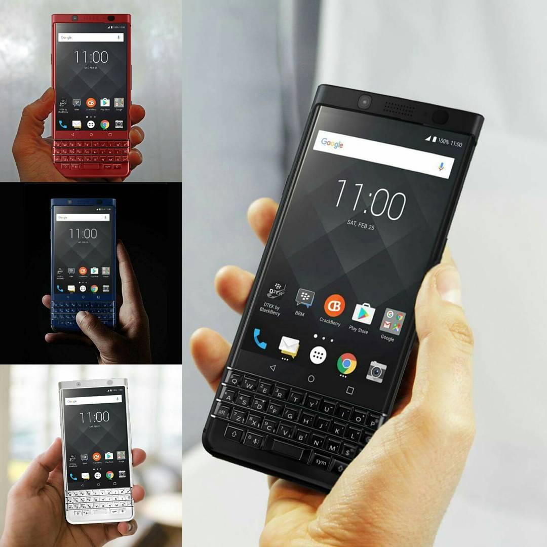红色蓝色黑色KEYone手机