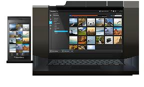 黑莓10系统手机桌面管理软件工具
