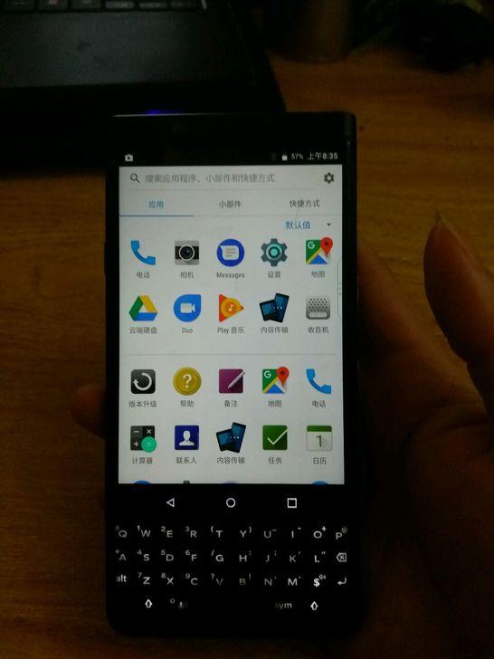 黑色KEYONE手机