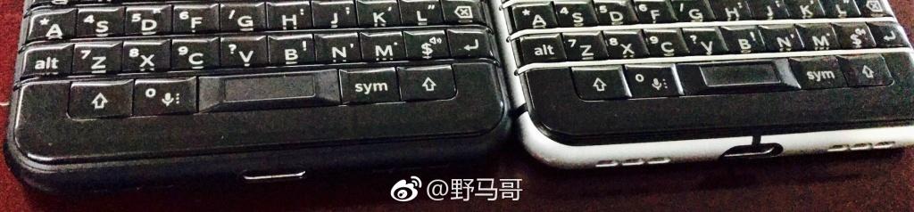 黑色黑莓KEYONE手机
