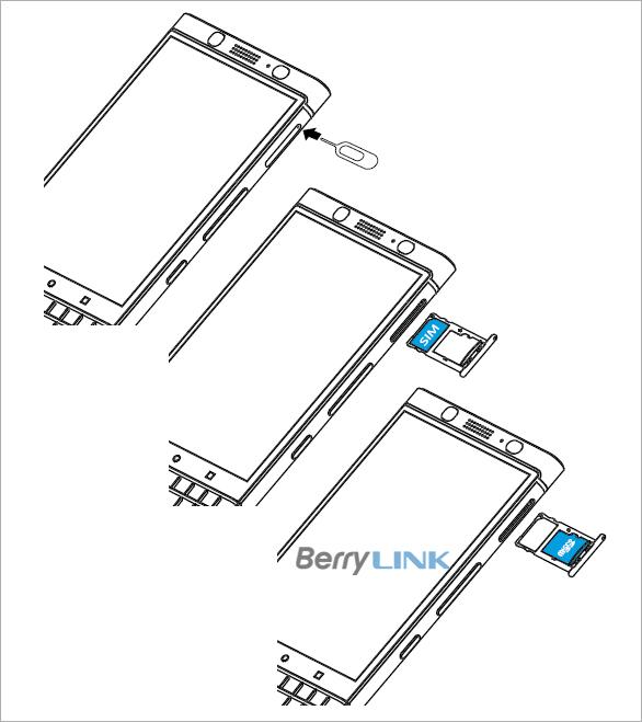 黑莓keyone SIM MicroSD