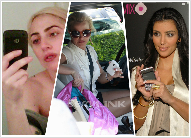 Kim Kardashian_Britney Spears_Lady Gaga_blackberry