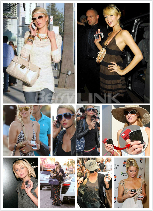 帕丽斯·希尔顿(Paris Hilton)使用黑莓手机