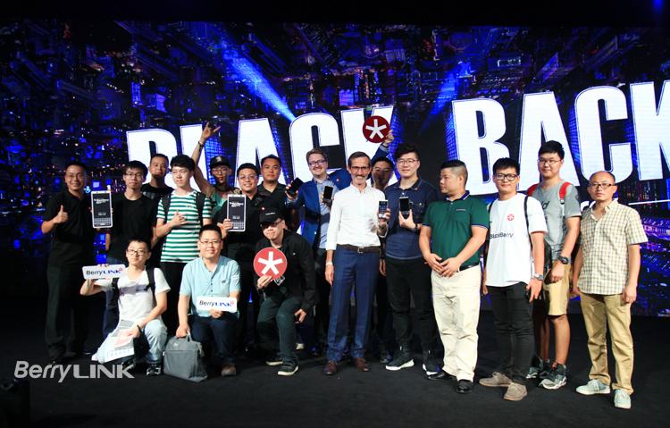 黑莓北京发布会合影