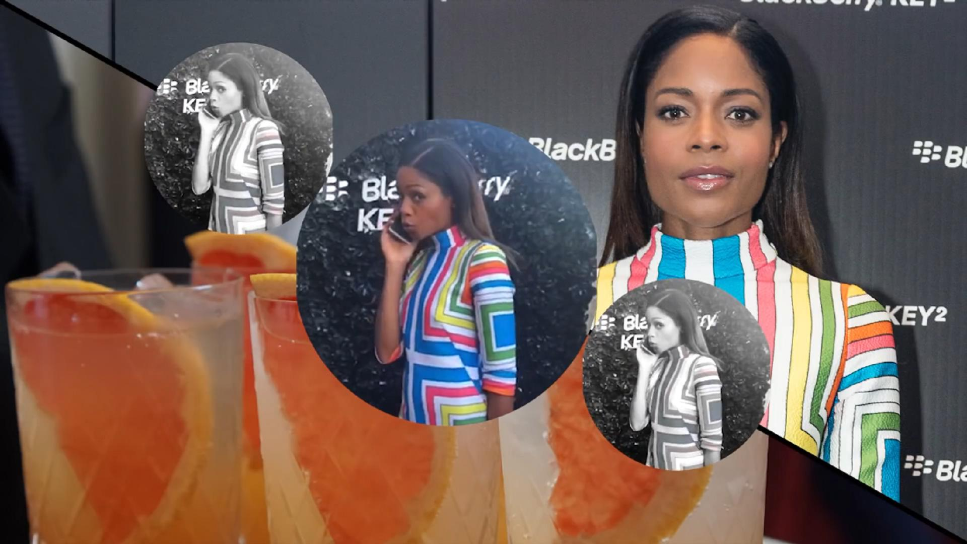 娜奥米·哈里斯(Naomie Harris)参加黑莓手机活动