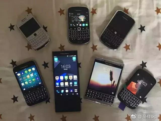 作者使用过的黑莓手机