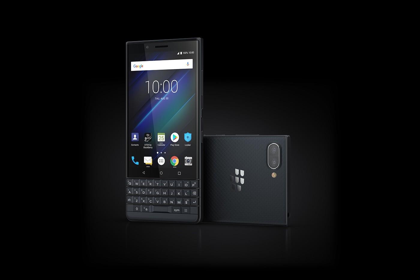 黑莓KEY2 LE手机官方图 蓝色版