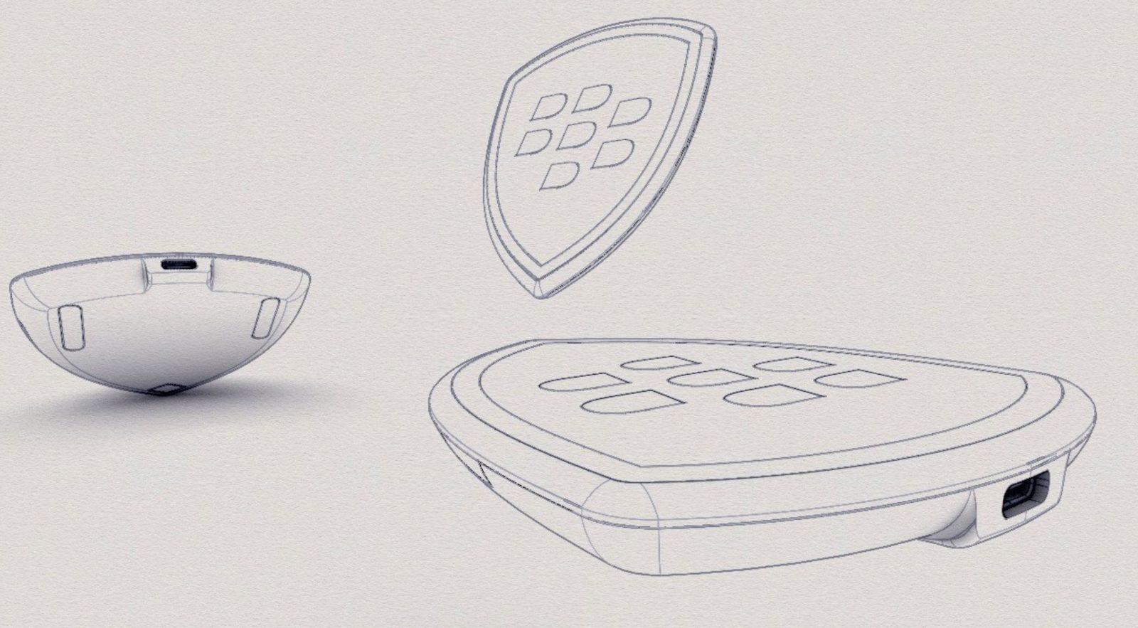 黑莓无线充电器设计草图