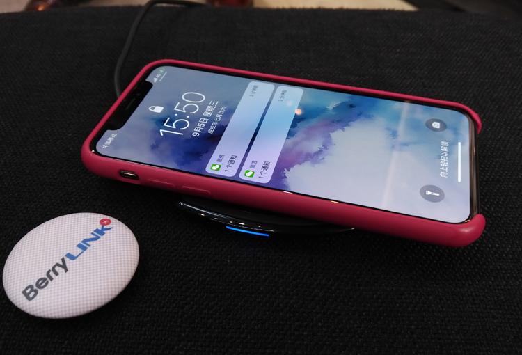 iphone使用黑莓无线充电器